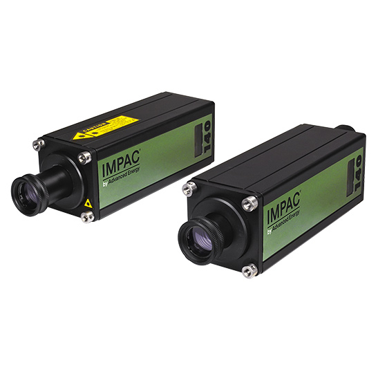 Two Impac series 140 pyrometers